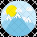 Mountain Sunrise Sun Icon