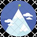 Mountain Climbing Snow Icon