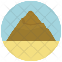 Mountain Pyramid Sand Icon