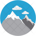 Mountain Landform Nature Icon