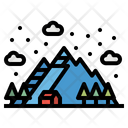 Mountain Snow Landscape Icon