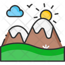 A Landscape Mountain Landscape Icon