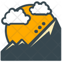 Mountain Hill Sunrise Icon