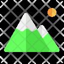 Mountain Destination Holiday Icon