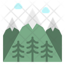 Mountain Snow Flower Icon