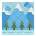 Mountain Forest Tree Icon