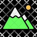 Mountain Destination Traveling Icon
