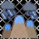 Mountain Rain Nature Icon