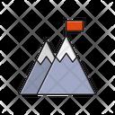 Mountain Success Career Icon