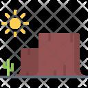 Mountain Cactus Desert Icon