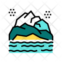 Mountain Landscape Color Icon