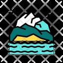 Mountain Landscape Color Icon