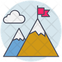 Business Mountain Goals Icon