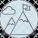 Business Mountain Goals Icon