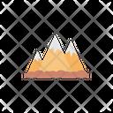 Mountain Hills Rock Icon
