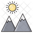 Mountain Hills Sun Icon