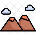 Mountain Nature Camping Icon