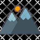 Mountain Extreme Nature Icon