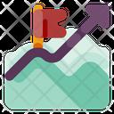 Mountain Progress Graphic Icon