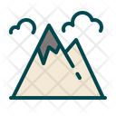 Mountain Hill Hiking Icon