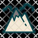 Mountain Hill Hiking Icon
