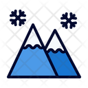 Mountain Winter Snow Icon