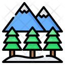Mountain Tree Pine Icon