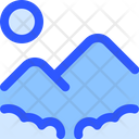 Adventure Travel Mountain Icon