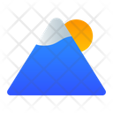 Mountain Hill Landscape Icon