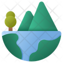 Mountain Nature World Icon