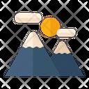 Mountain Hill Nature Icon