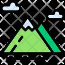 Mountain Water Snow Icon
