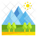 Mountain Forest Tree Icon