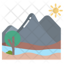 Mountain Nature Landscape Icon