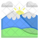 Mountain Forest Sun Icon