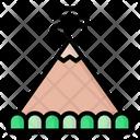 Mountain Volcano Landscape Icon