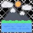 Mountain River Lake Icon