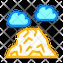 Mountain Mountain Volcano Volcano Icon