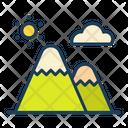 Mount Mountain Landscape Icon