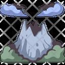 Mountain Volcano Crater Icon