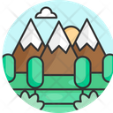 Mountain Travel Background Icon