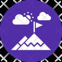 Mountain Adventure Hiking Icon