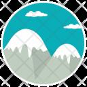 Mountain Clouds Peak Icon