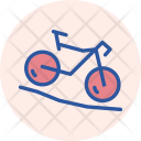 Mountain Cycling Cycle Icon