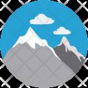 Mountain Hill Snow Icon