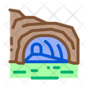 Mountain Cave Gorge Icon