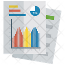 Mountain Chart Growth Chart Financial Chart Icon
