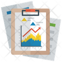 Mountain Chart Growth Chart Business Report Icon