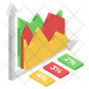 Mountain Chart Infographic Statistics Icon