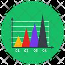 Mountain Chart Data Analytics Infographic Icon